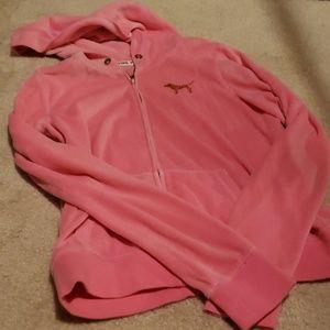 Victoria's Secret PINK velour hoodie size Medium